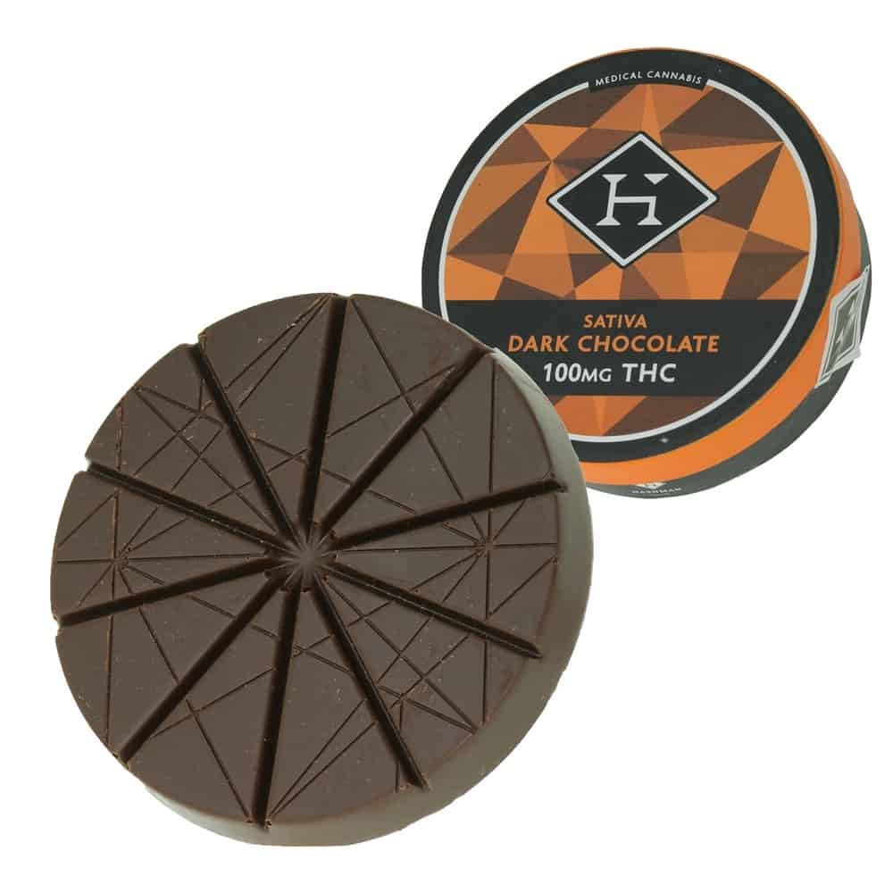 cannabis infused dark chocolate from hashman