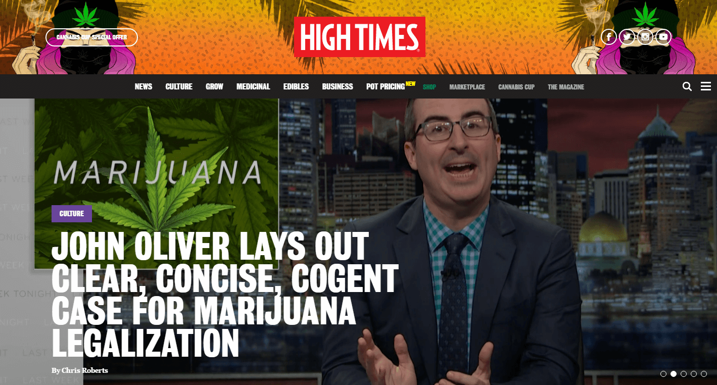 High Times great cannabis web design