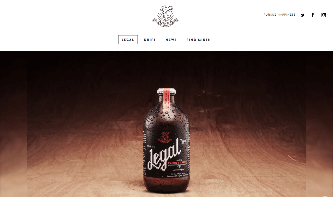 Mirth provisions great cannabis web design