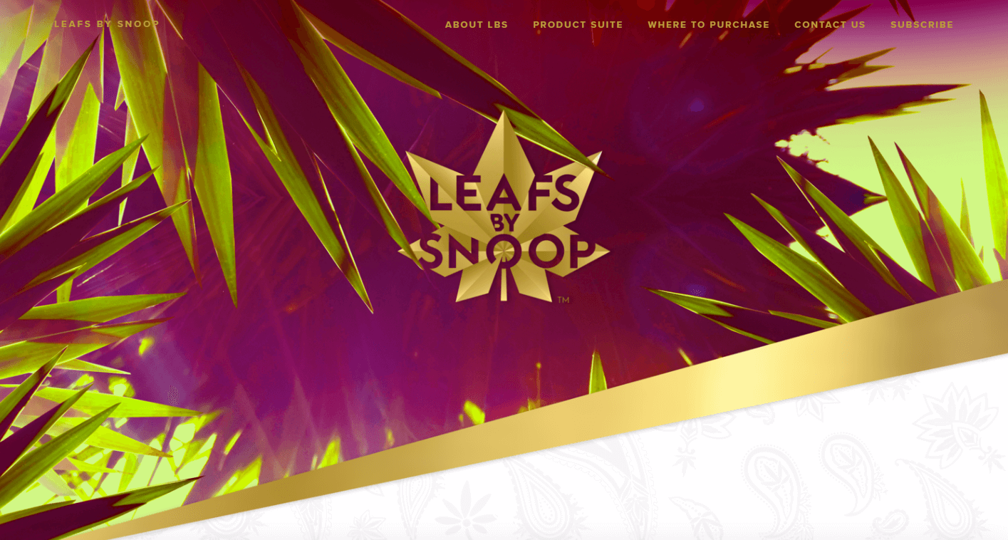 Snoop cannabis brand leafs
