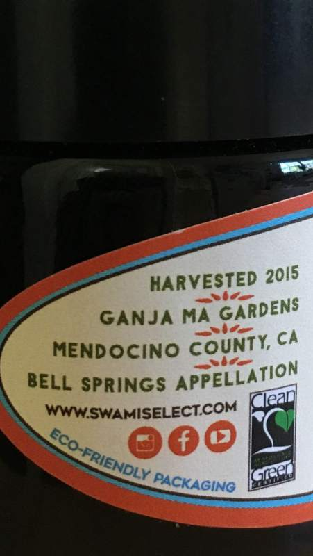 Swami Select Mendocino County branding