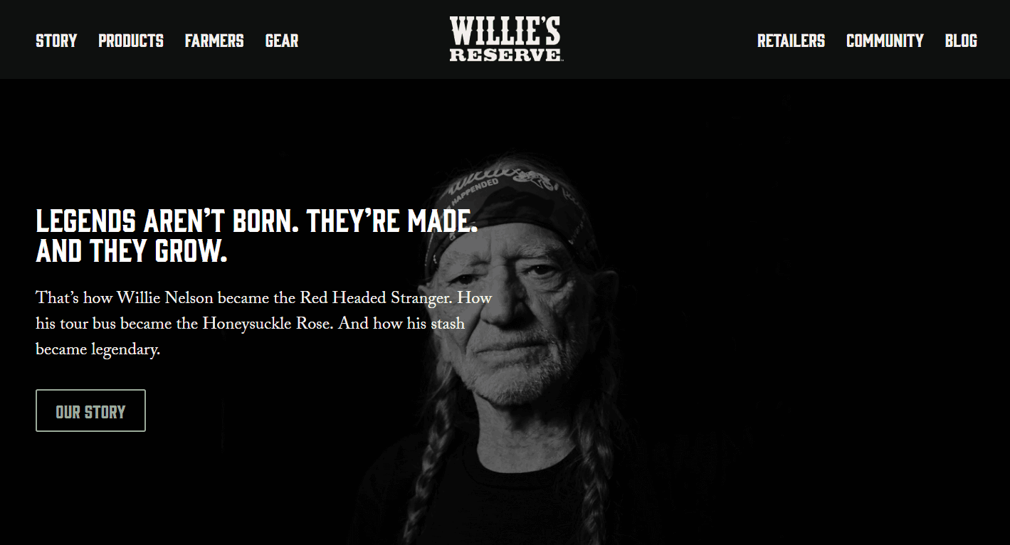 Willie Nelson reserve cannabis brand