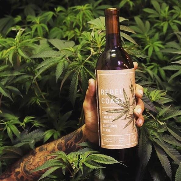 wine bottle cannabis