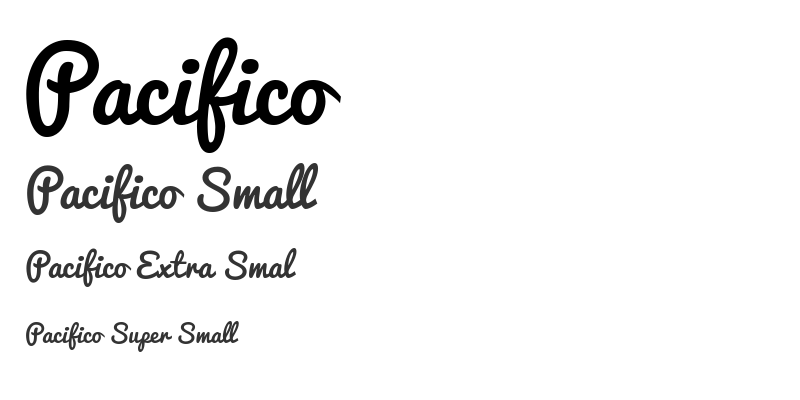 Pacifico is not a child friendly font