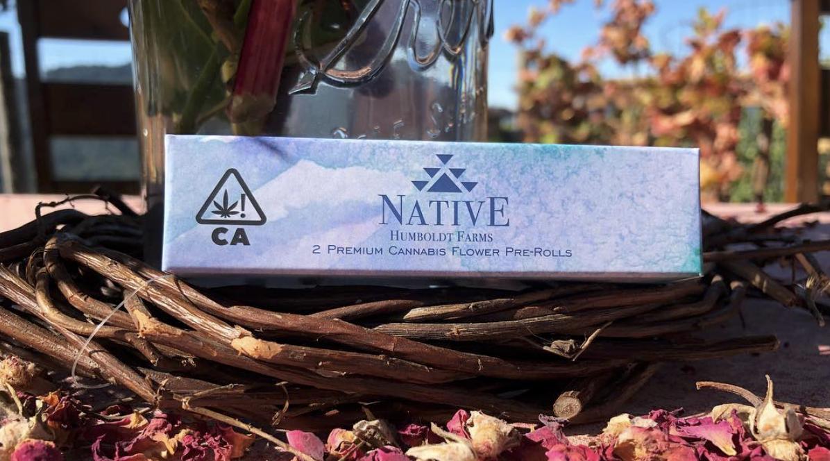 Native humboldt farms cannabis logo design