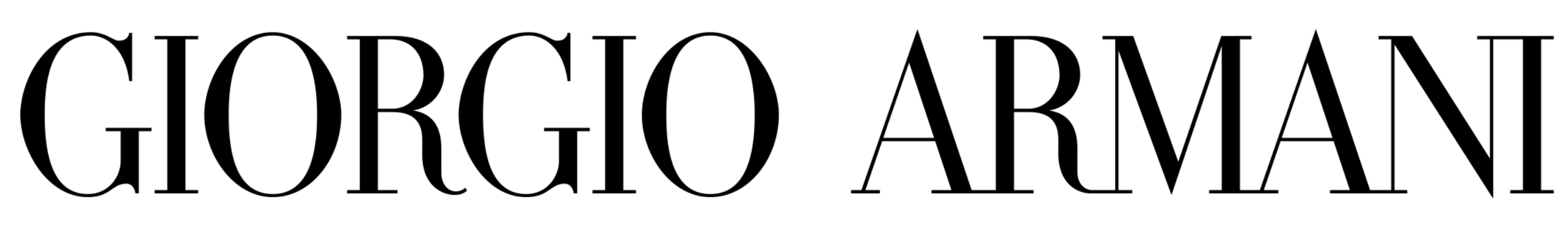 armani logo font inspiration