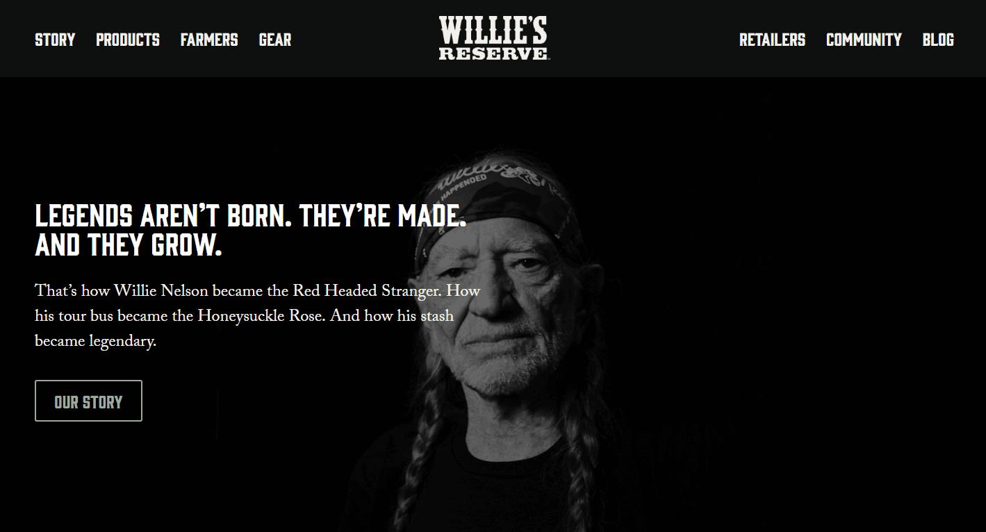 Willie Nelson reserve cannabis brand