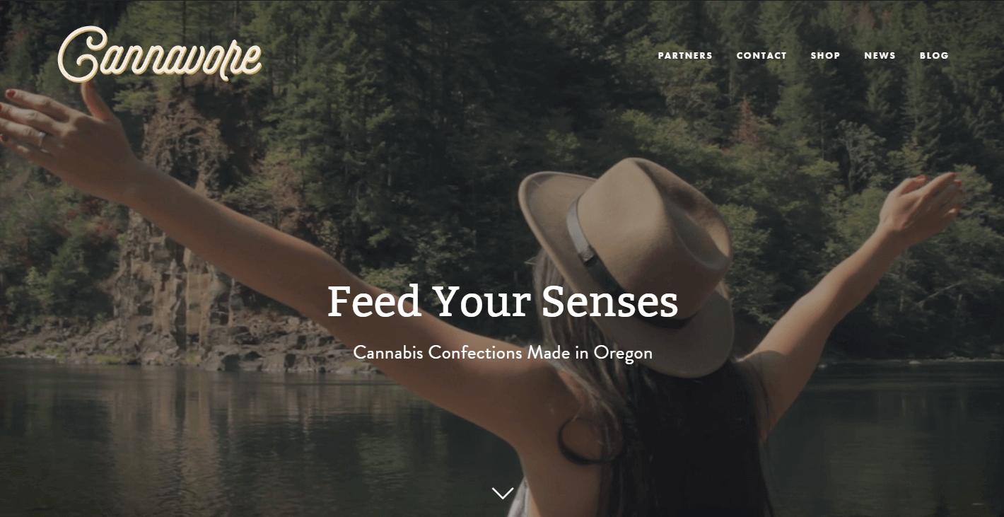 cannavore 420 website great design