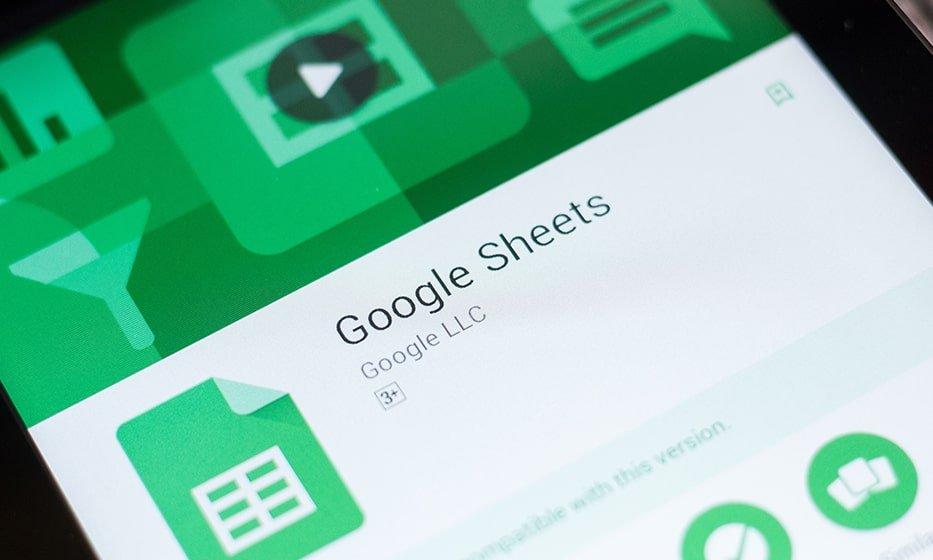 google sheets min