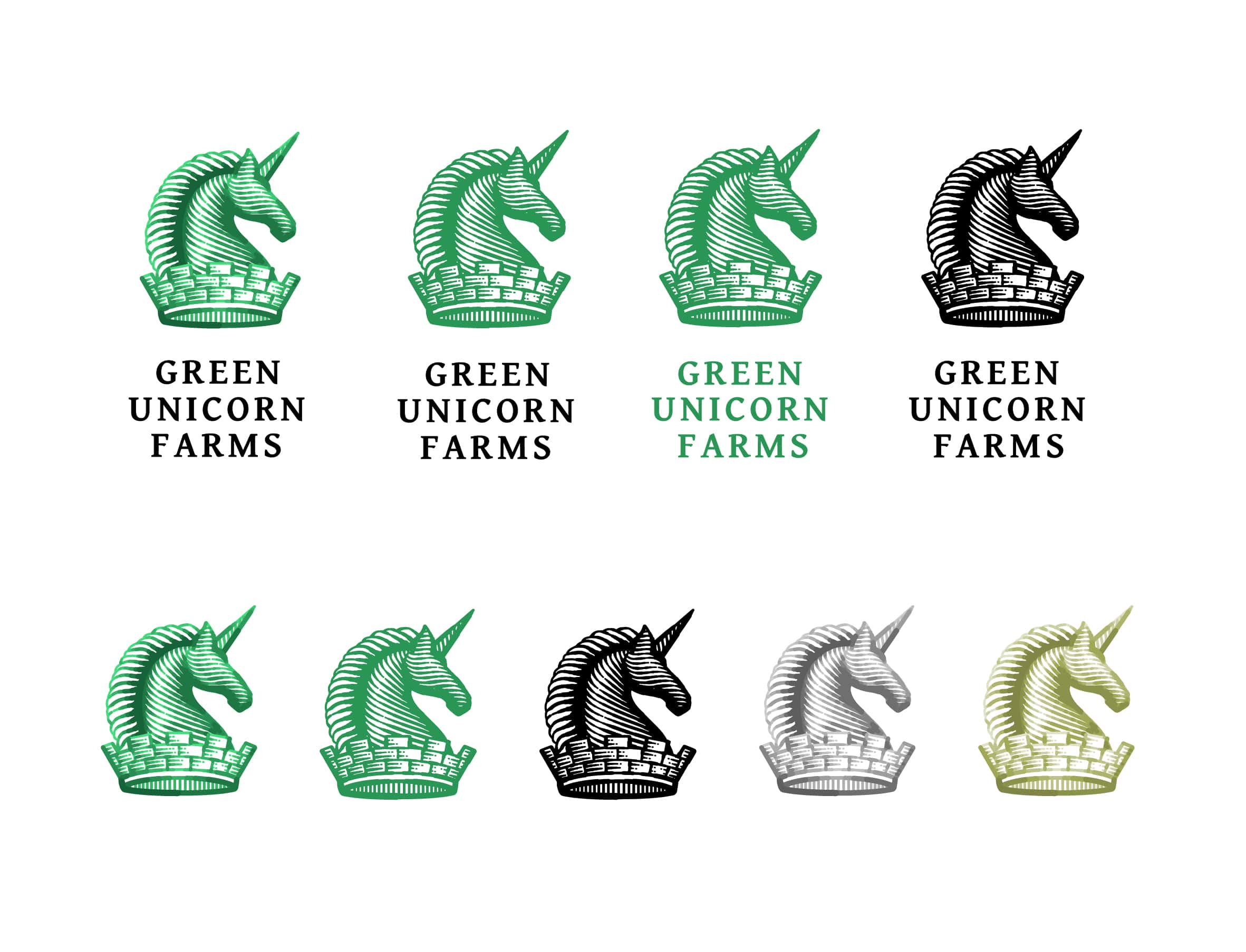 green unicorn farms logo styles min
