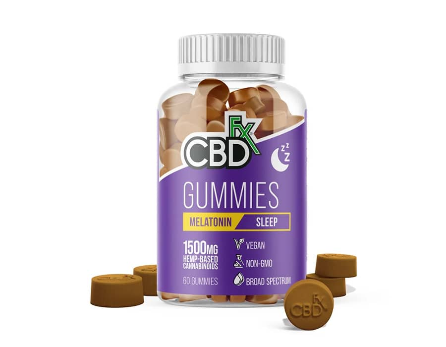 CBDfx sleep melatonin gummies
